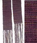 Handwoven Scarf, Silk and Chenille Deep Purple