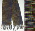 Women's Handwoven Scarf.  Black & Multicolor.